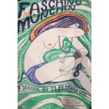 Venedey 'Fasching in M�nchen' Poster (1971) 84cm x 60cm