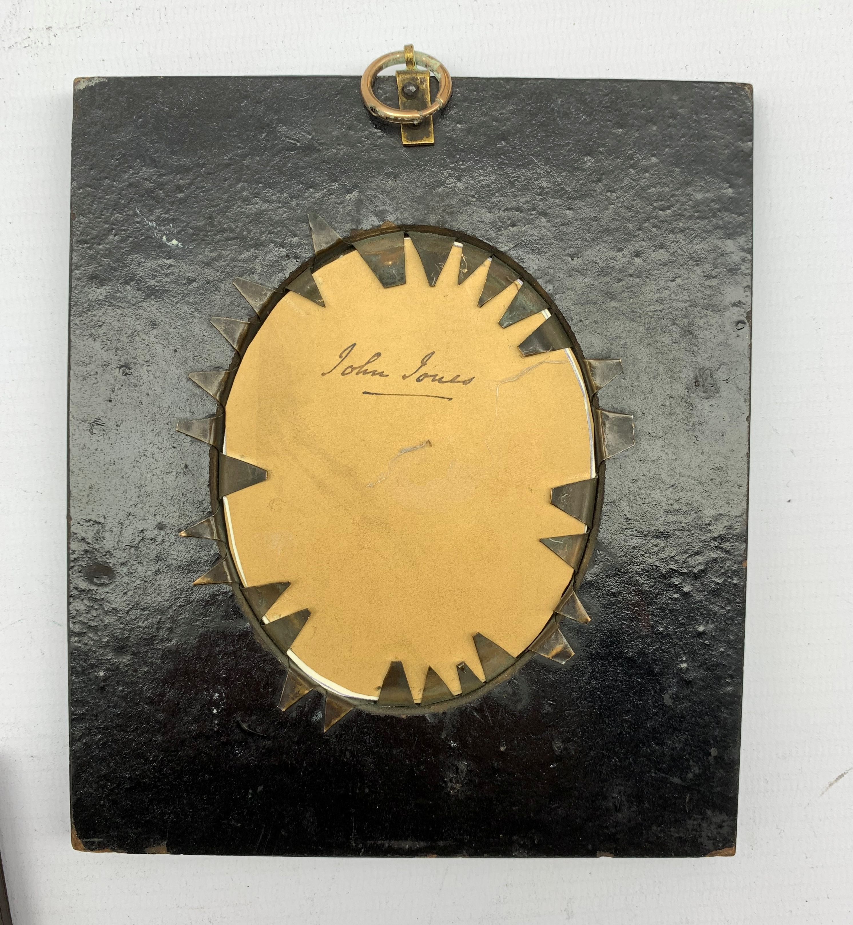 19th Century silhouette profile portrait of a gentleman with gilt highlights and inscribed to the re - Image 3 of 3