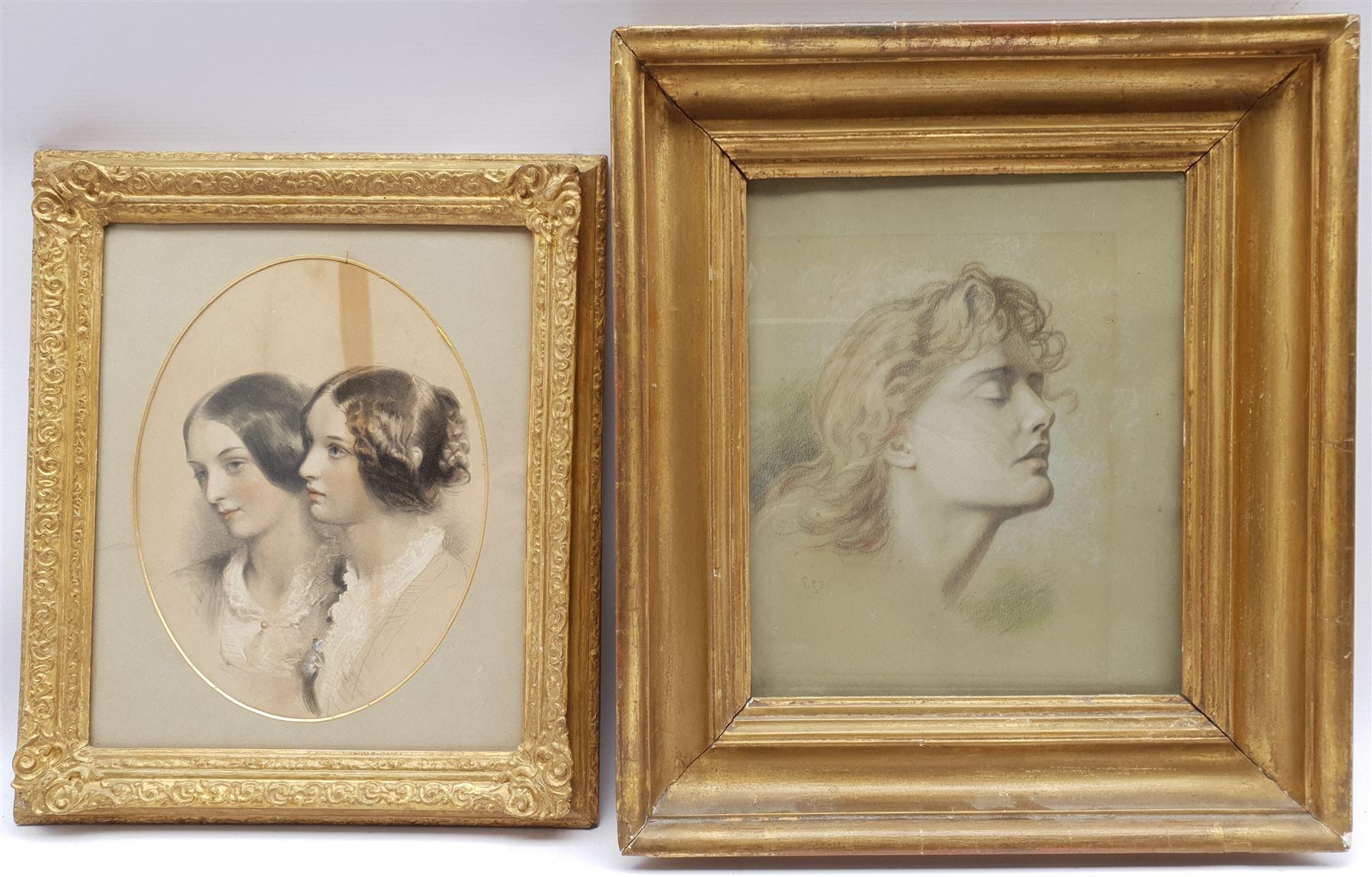 English School (19th century): Classical Maiden