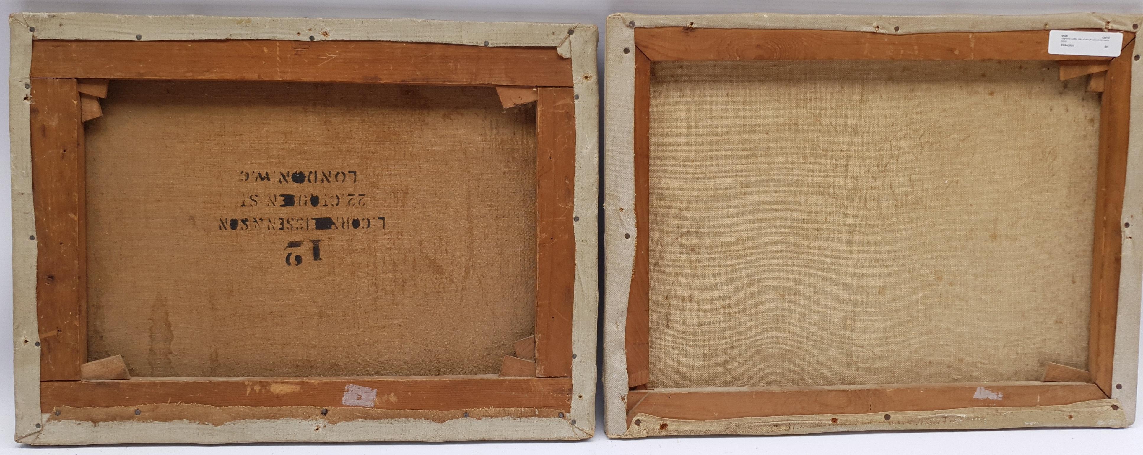 Harry Davis (British 1885-1970): Highland Cattle, pair oils on canvas signed 30cm x 40cm (2) Notes - Image 4 of 4