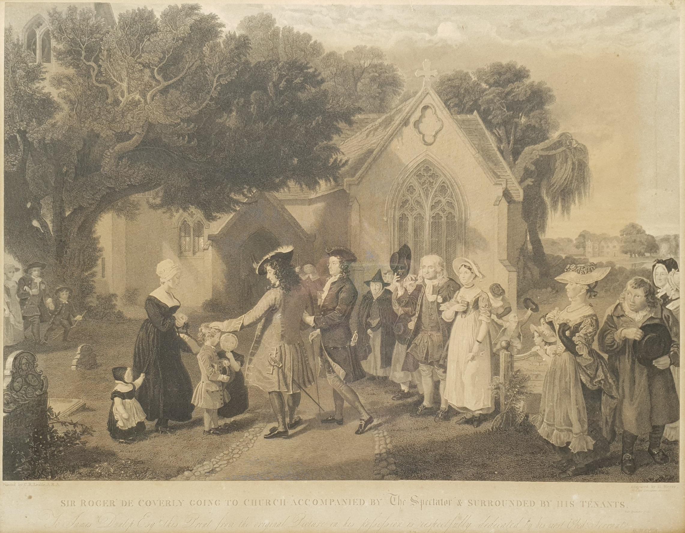 Henry Meyer RBA (British 1780-1847) after Charles Robert Leslie RA (1794-1859): 'Sir Roger De Coverl