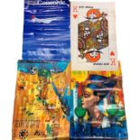 Collection of Vintage Airline Advertising Posters (1960s - 1970s) Max 102cm x 69cm (6)