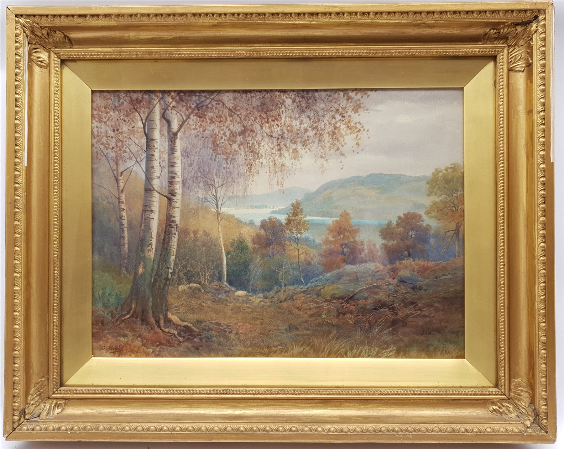 David Gould (British 1871-1952): Forest above a Lake, watercolour signed 32cm x 45cm; R Macauley (Br - Image 4 of 4