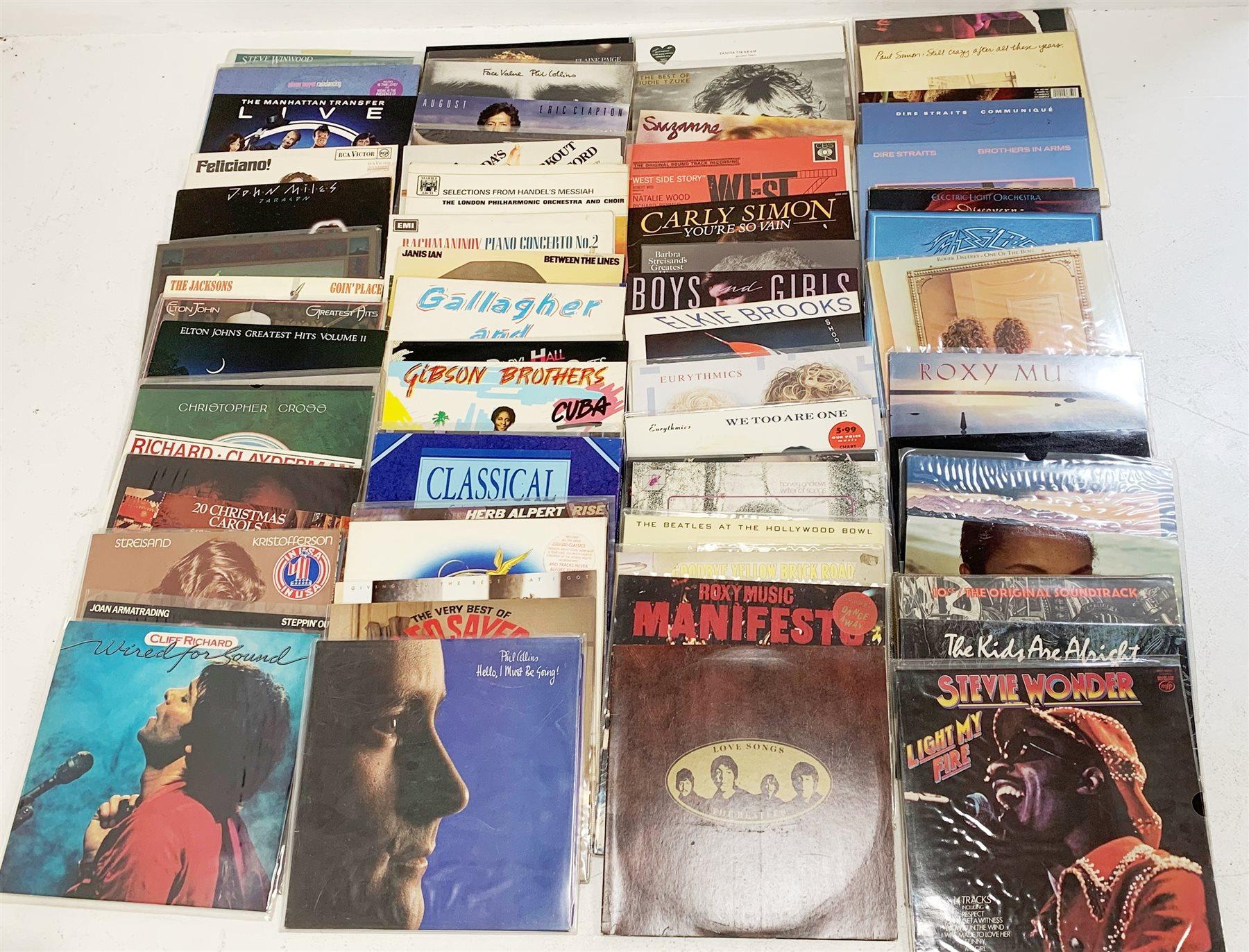 A quantity of LP's to include Elton John, Lionel Richie, Jimi Hendrix, The Beatles, Paul Simon, The