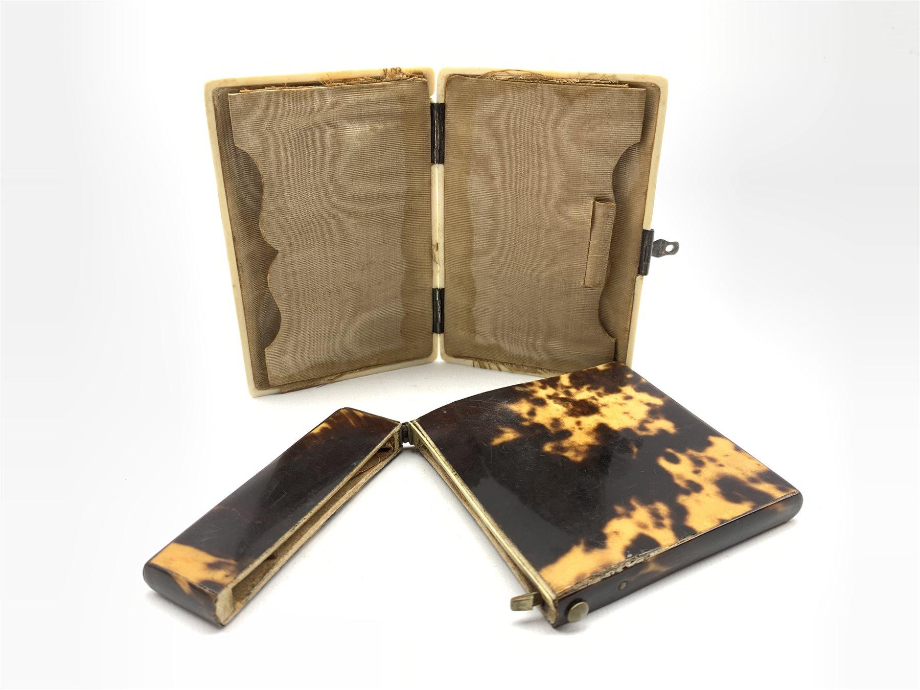 Victorian ivory rectangular card case - Image 3 of 5