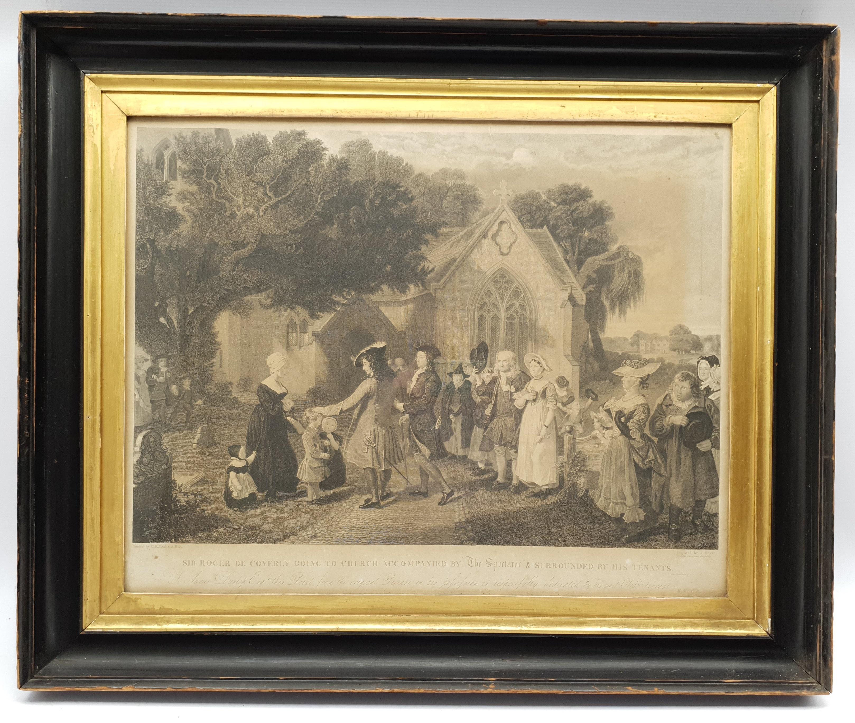 Henry Meyer RBA (British 1780-1847) after Charles Robert Leslie RA (1794-1859): 'Sir Roger De Coverl - Image 2 of 10