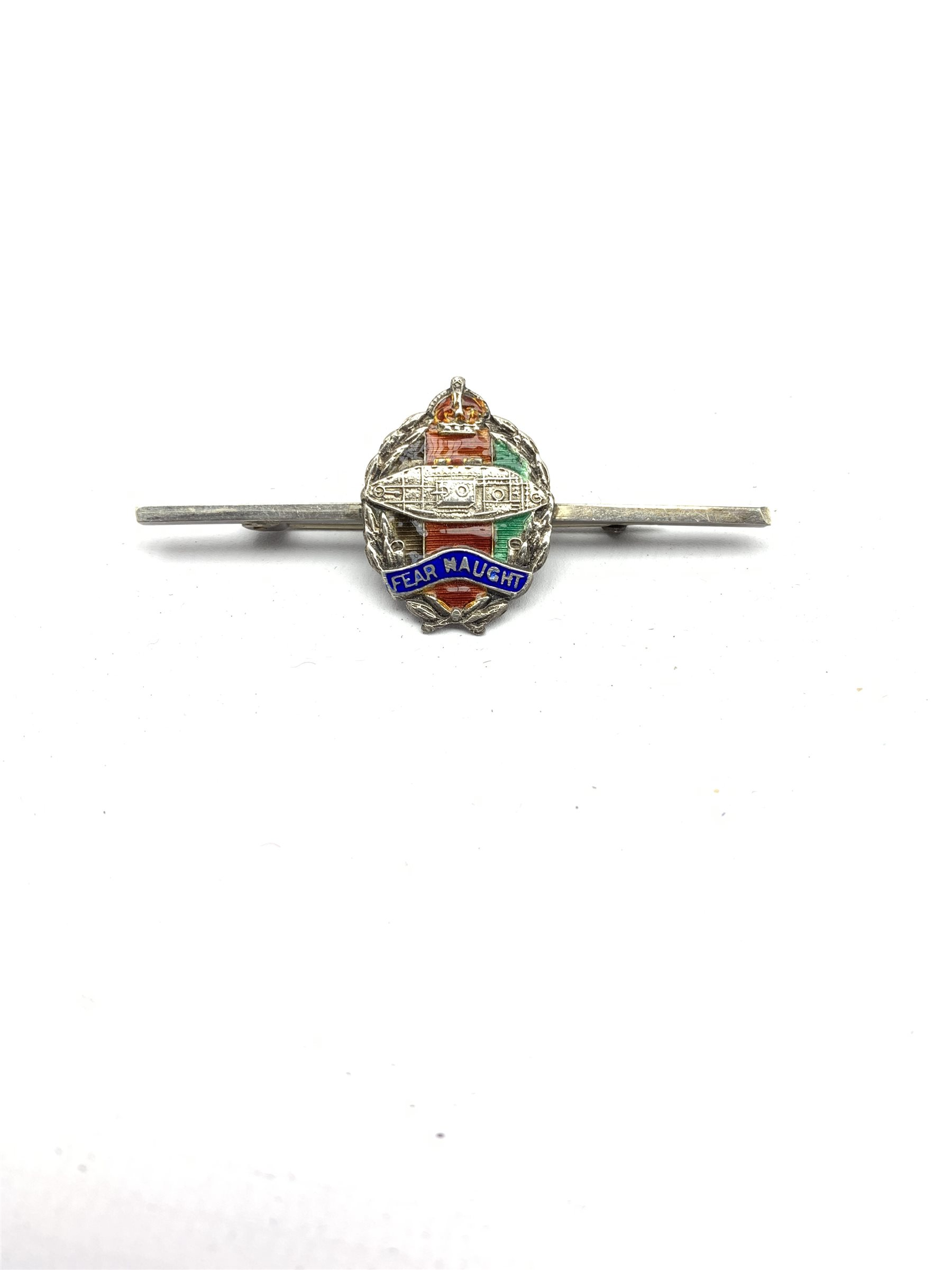 9ct gold and blue enamel brooch for XIII-XVIII Royal Hussars , four other Hussars brooches and clips - Image 4 of 15