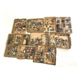 Collection of painted metal model figures and accessories