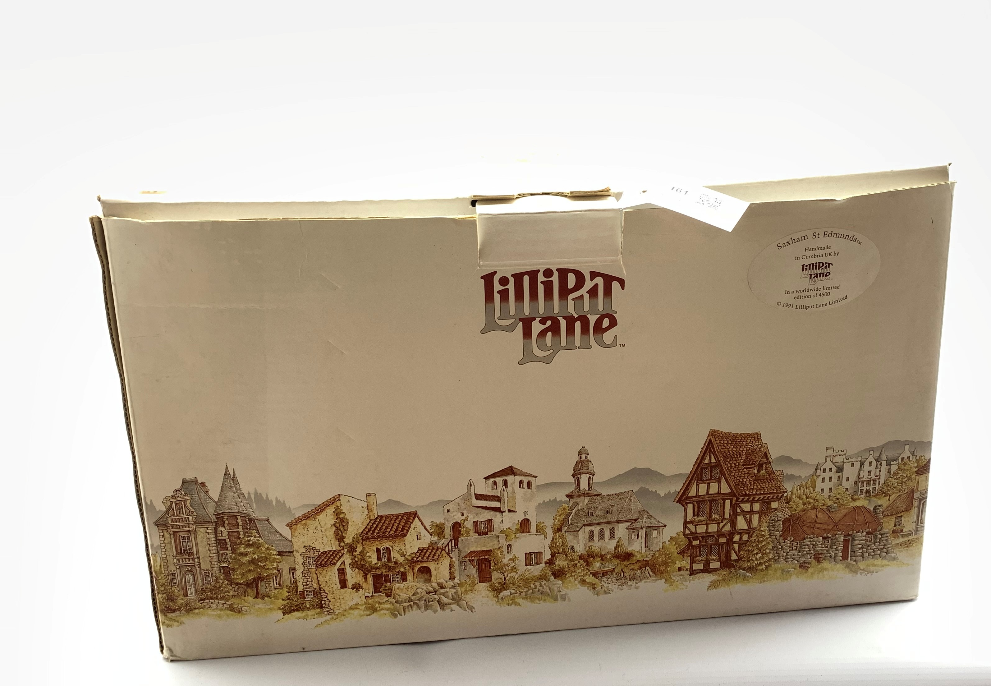Large Lilliput Lane limited edition model 'Saxham St. Edmunds' No. 457/4500, boxed with certificate, - Image 3 of 3