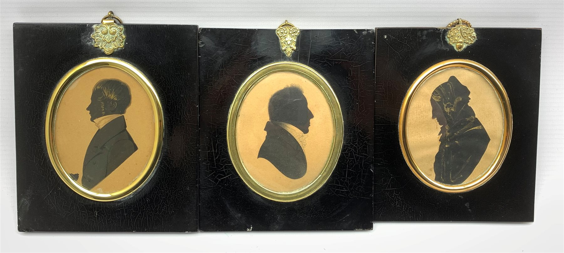 19th Century silhouette profile portrait of Mrs Wakefield aged 84