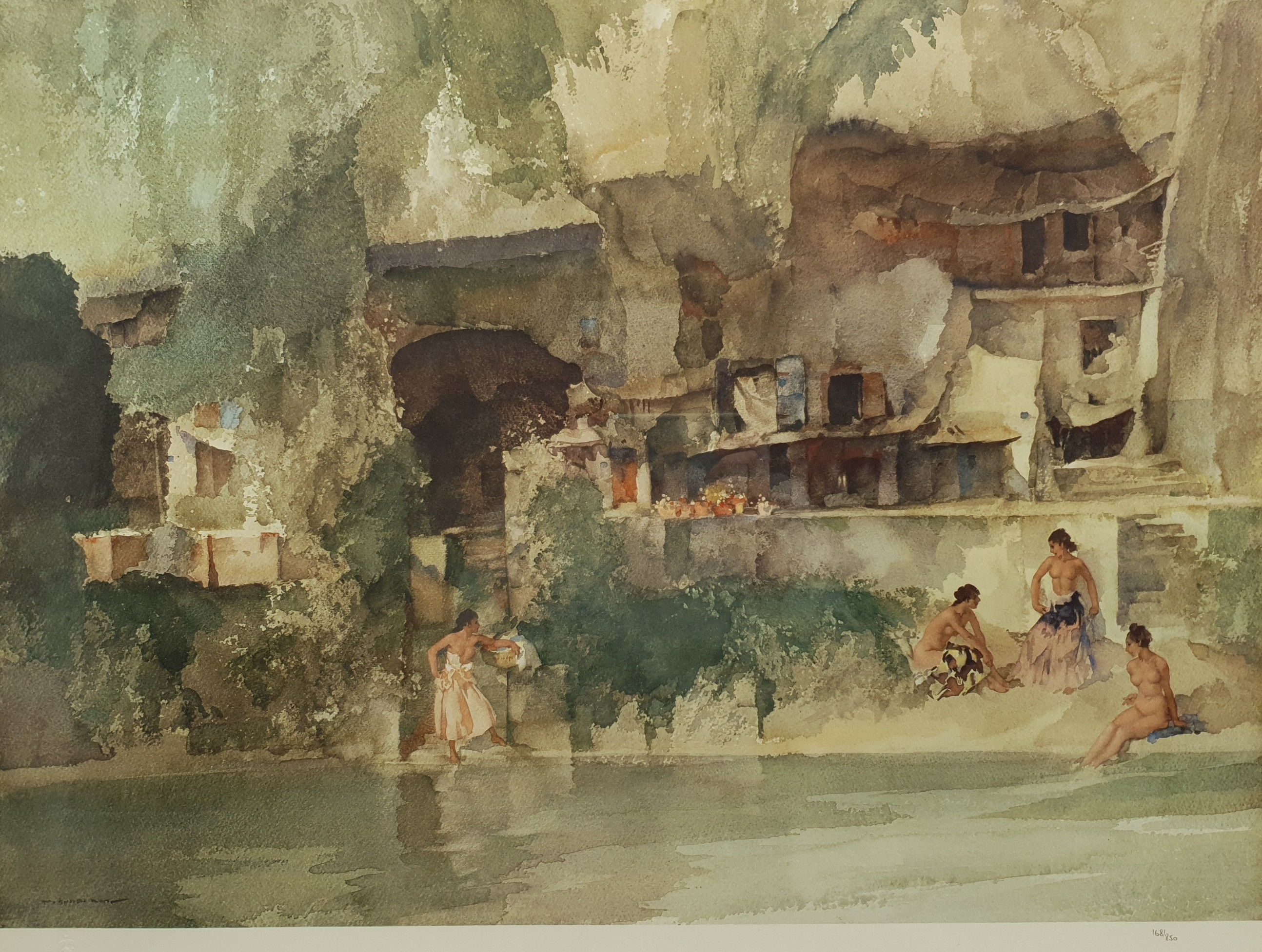 After Sir William Russell Flint (Scottish 1880-1969): 'La Belle Poseuse Nerac' and 'In Sunny Perigor