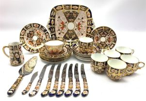Royal Crown Derby Duesbury pattern tea set Patt. 2451 comprising six cups and saucers