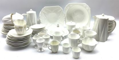 Collection of Shelley white Dainty table ware including cups