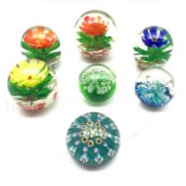 Group of assorted paperweights