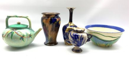 Newport Pottery Clarice Cliff 'Delicia' pattern bowl D20cm