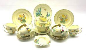 Art Deco Crown Staffordshire 'Pan' Design tea service for twelve