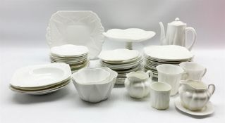 Collection of Shelley white Dainty teaware including cups and saucers