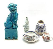 19th century Chinese blanc de chine figure H14cm