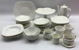 Collection of Shelley white Dainty tea and coffee ware including cups