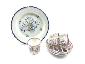 Early 19th century Pearlware plate painted in underglaze blue