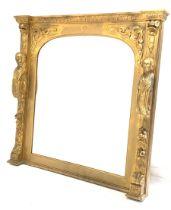 Large 20th century gilt framed pier mirror