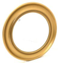 Circular gilt framed wall mirror