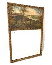 20th century gilt framed wall mirror
