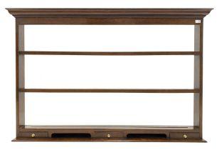 20th century oak three height plate rack