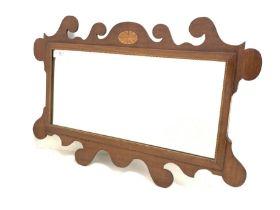 Edwardian mahogany fret cut wall mirror 73cm x 47cm