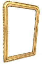 19th century French giltwood and gesso overmantle mirror