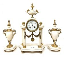 Late 19th century French garniture inscribed 'Bousquet