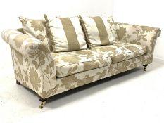 Contemporary three seat sofa