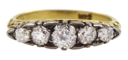 Early 20th century graduating five stone diamond ring
