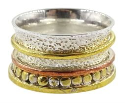 Silver and silver-gilt spinner ring