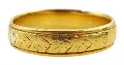 Edwardian 22ct gold wedding band