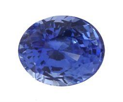 Loose oval mixed cut unheated pastel cornflower blue sapphire of 2.75 carat