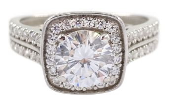 9ct white gold cubic zirconia dress ring