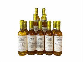 Eleven bottles of Chateau Rabaud-Promis Sauternes