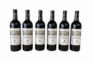 Six bottles of Chateau Leoville-Barton 2000 Saint-Julien