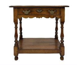 Late 18th century style fruitwood side table