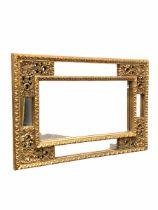 Classical design gilt framed wall hanging mirror 97cm x 66cm