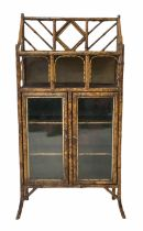 Late Victorian bamboo side cabinet