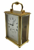A 20th century Swiss carriage clock with a 15 jewel Imhof movement