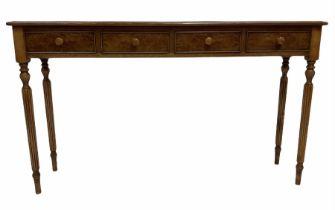 Regency style hardwood hall console table