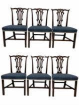 Set six Georgian mahogany dining chairs