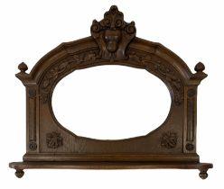 20th century oak framed wall mirror