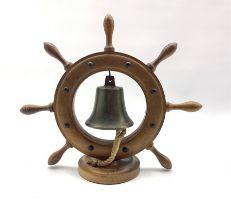 20th century ships bell dinner gong H30cm