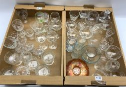 Quantity of glassware to include cut glass part sets