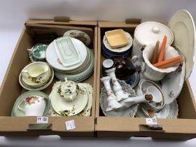 Quantity of ceramics including Worcester Evesham