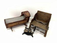 Children's German tin-plate sewing machine